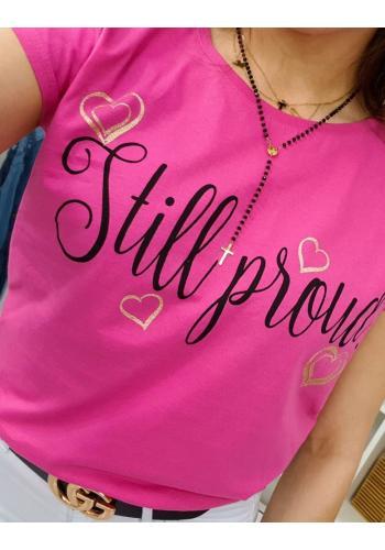 Dámské stylové tričko s nápisem v smetanové barvě