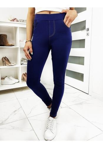 Modré pohodlné kalhoty pro dámy
