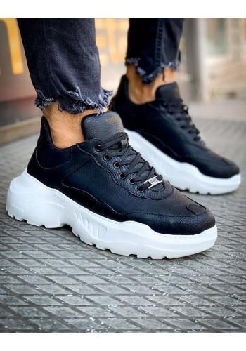 Pánské módní Sneakersy na vysoké podrážce v černé barvě
