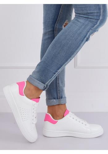 Dámské klasické tenisky v bílo-růžové barvě