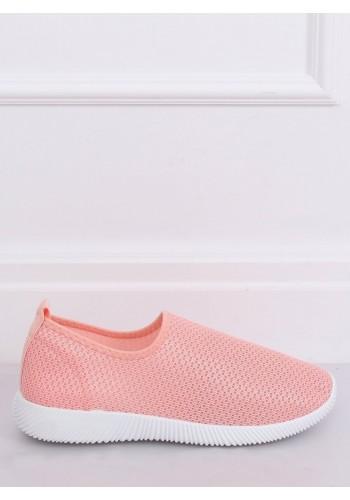 Nazouvací dámské tenisky růžové barvy s pružnou podrážkou