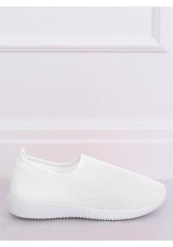 Dámské nazouvací tenisky s pružnou podrážkou v bílé barvě