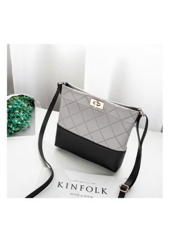 Mini dámská kabelka šedé barvy z ekokůže