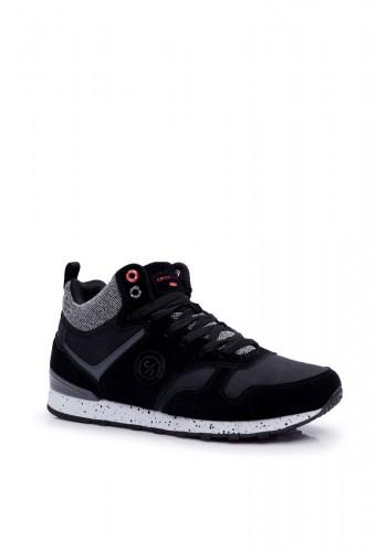 Černé kotníkové tenisky Cross Jeans pro pány