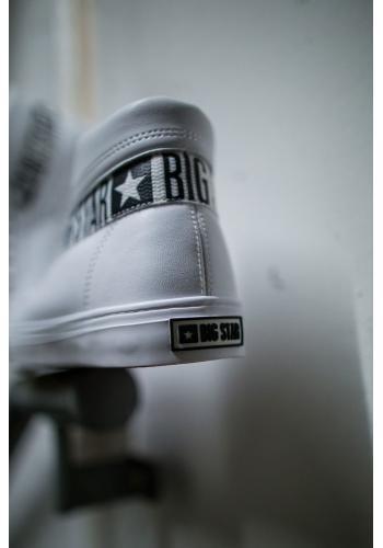 Kotníkové pánské tramky Big Star bílé barvy