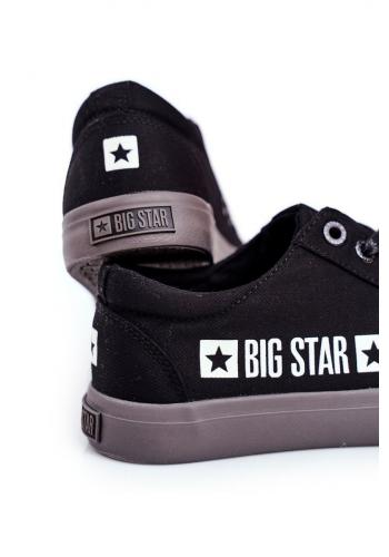 Plátěné pánské tramky Big Star černé barvy