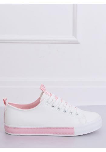 Klasické dámské tenisky bílo-růžové barvy v akci
