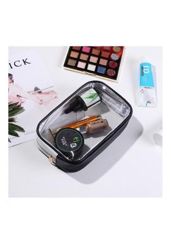 Průhledná kosmetická taška černé barvy