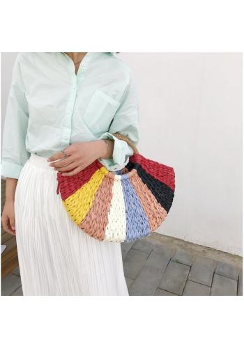 Dámská barevná proutěná kabelka