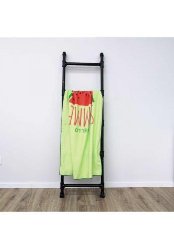 Obdélníkový plážový ručník zelené barvy s motivem vodního melounu