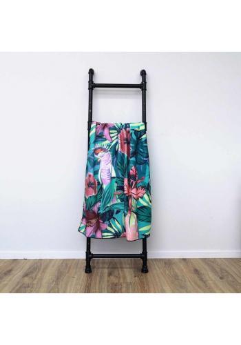 Plážový ručník s barevným tropickým motivem