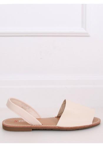 Béžové minimalistické sandály s plochým podpatkem pro dámy