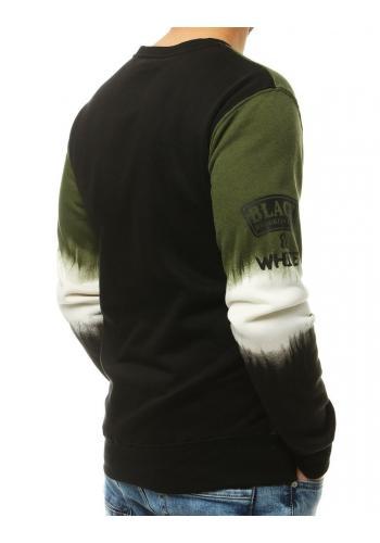 Pánská stylová mikina s potiskem v zelené barvě