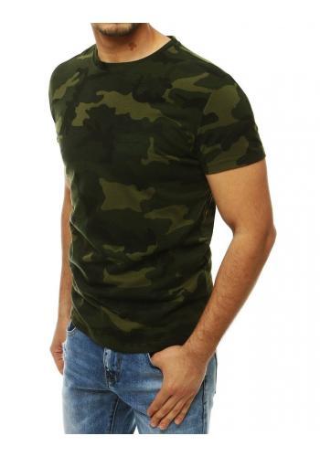 Kaki maskáčové tričko s krátkým rukávem pro pány