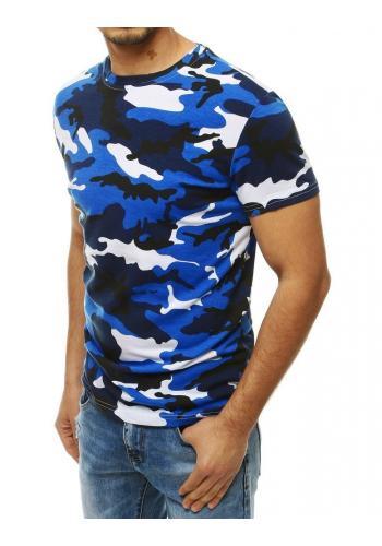 Pánské maskáčové tričko s krátkým rukávem v světle modré barvě