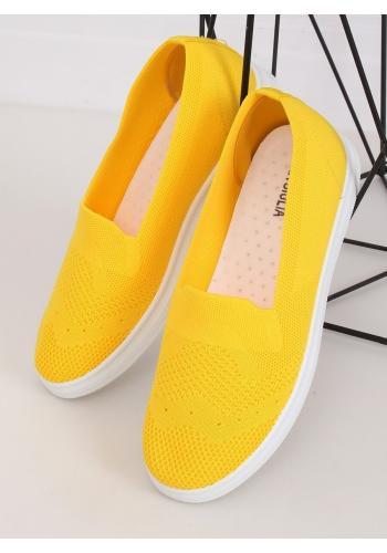 Žluté nazouvací tenisky s pružnou podrážkou pro dámy