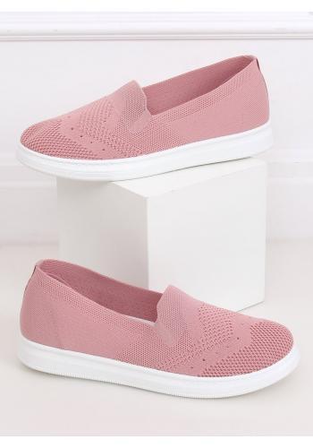 Dámské nazouvací tenisky s pružnou podrážkou v růžové barvě