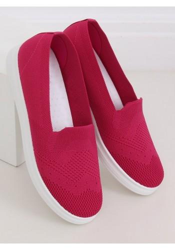 Nazouvací dámské tenisky tmavě růžové barvy s pružnou podrážkou