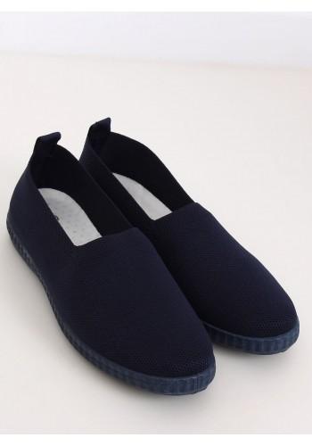 Tmavě modré nazouvací tenisky s pružnou podrážkou pro dámy