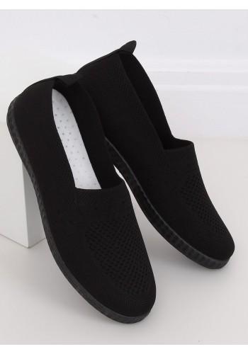 Černé nazouvací tenisky s pružnou podrážkou pro dámy