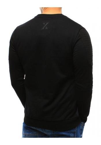 Pánská módní mikina s potiskem v černé barvě