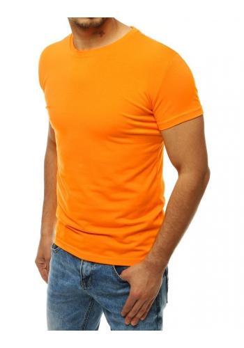 Pánské klasické tričko s krátkým rukávem v světle oranžové barvě