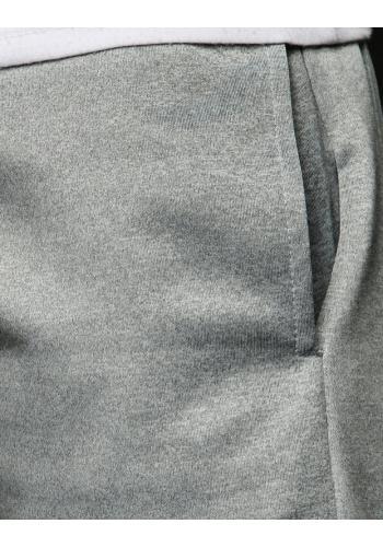 Pánské stylové tepláky s potiskem v světle šedé barvě