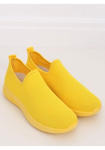 Žluté nazouvací tenisky pro dámy