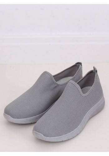 Nazouvací dámské tenisky šedé barvy