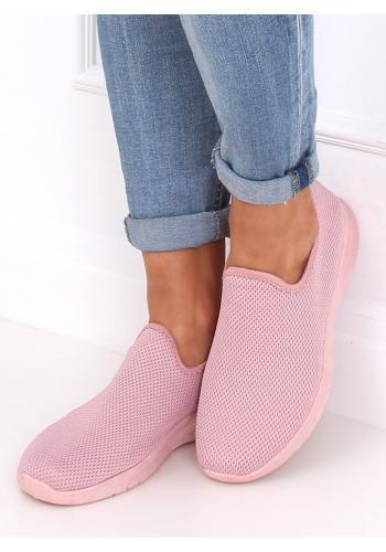 Dámské nazouvací tenisky v růžové barvě