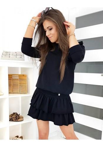Dámský komplet mikiny a sukně v černé barvě