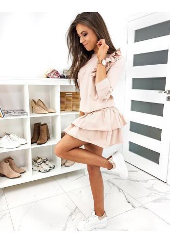 Růžový komplet mikiny a sukně pro dámy