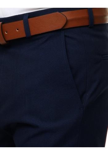 Elegantní pánské kalhoty tmavě modré barvy