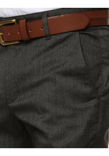 Pánské klasické kalhoty v tmavě šedé barvě