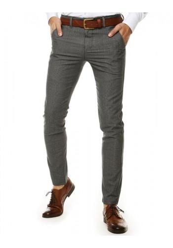 Světle šedé elegantní kalhoty se vzorem pro pány