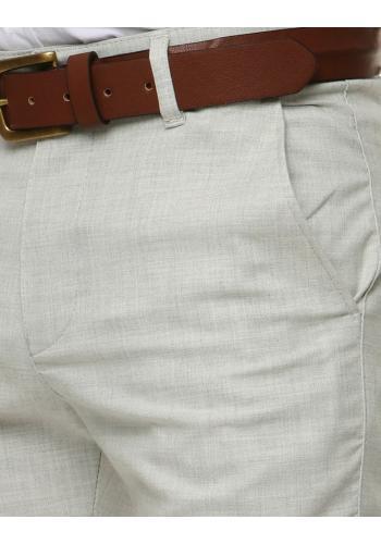 Pánské klasické kalhoty v světle šedé barvě