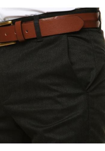 Tmavě šedé klasické kalhoty pro pány