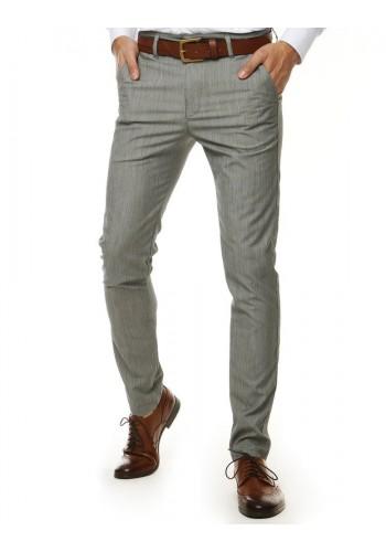 Elegantní pánské kalhoty světle šedé barvy