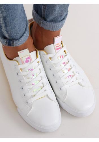 Bílo-žluté stylové tenisky pro dámy