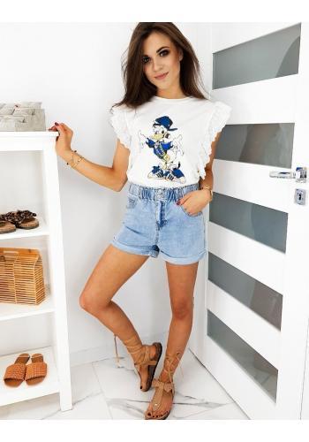 Bílé stylové tričko s pohádkovým motivem pro dámy