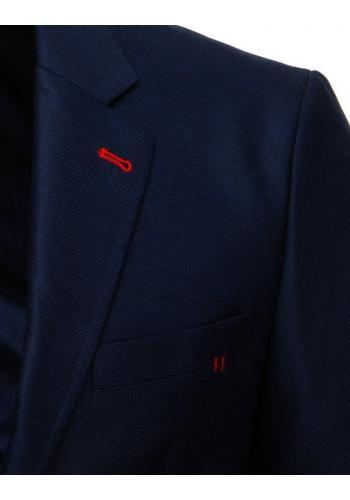 Pánské jednořadé sako v tmavě modré barvě