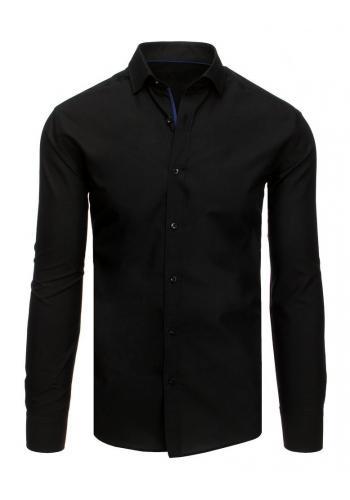 Černé elegantní košile s dlouhým rukávem pro pány