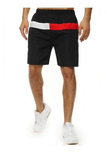 Koupací pánské šortky černé barvy s kontrastními vložkami