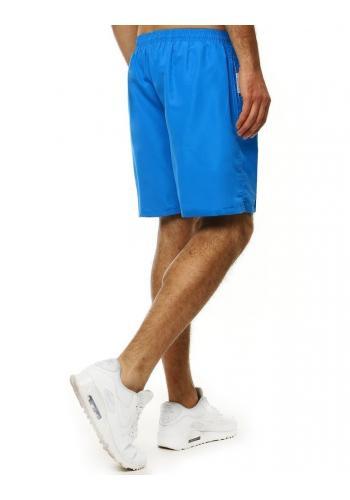 Pánské koupací šortky s kontrastními vložkami v světle modré barvě