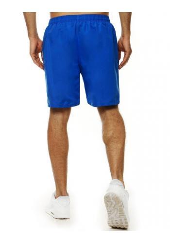 Modré koupací šortky s kontrastními vložkami pro pány