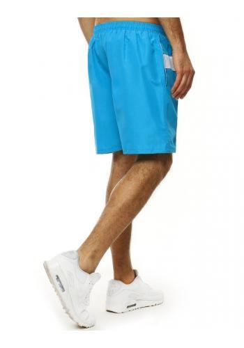 Koupací pánské šortky tyrkysové barvy s kontrastními vložkami