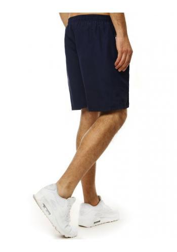Tmavě modré koupací šortky s kontrastními vložkami pro pány