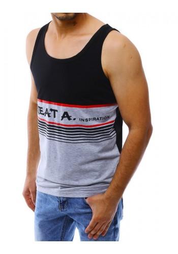 Letní pánské tričko černé barvy s potiskem