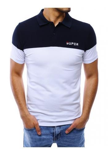 Pánská stylová polokošile v modro-bílé barvě
