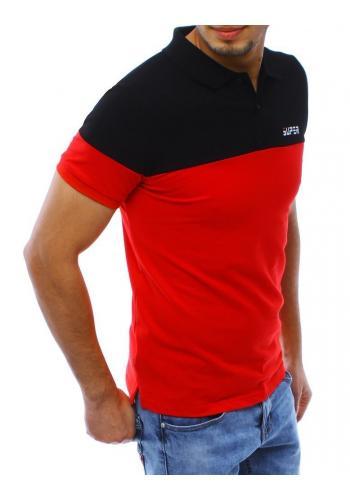 Černo-červená stylová polokošile pro pány